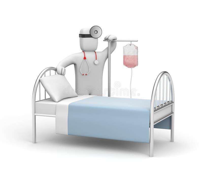 hospitalization royaltyfri illustrationer