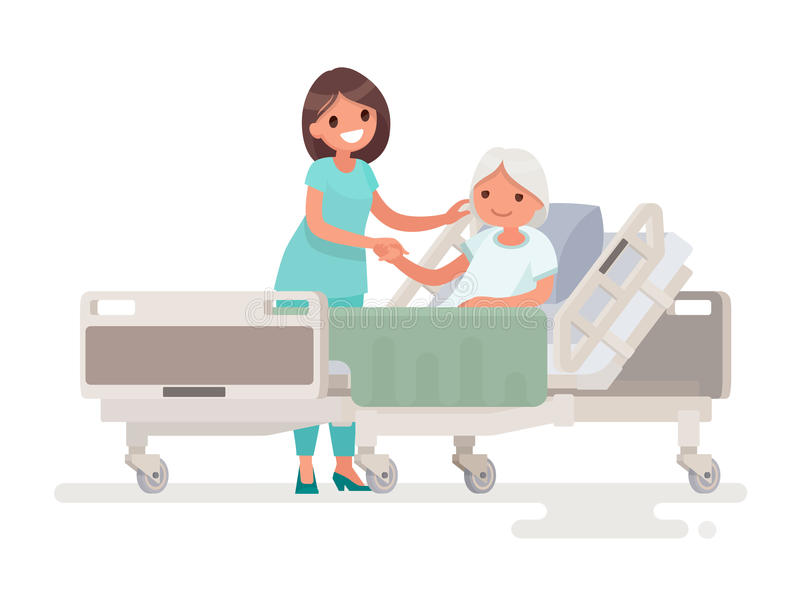 hospitalization of the patient a nurse taking care of a sick el stock illustration grandmother clipart images grandmother clipart free