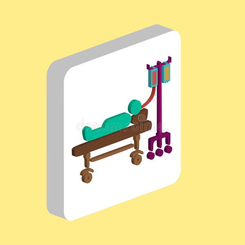 Hospitalizujący komputerowy symbol ilustracja wektor