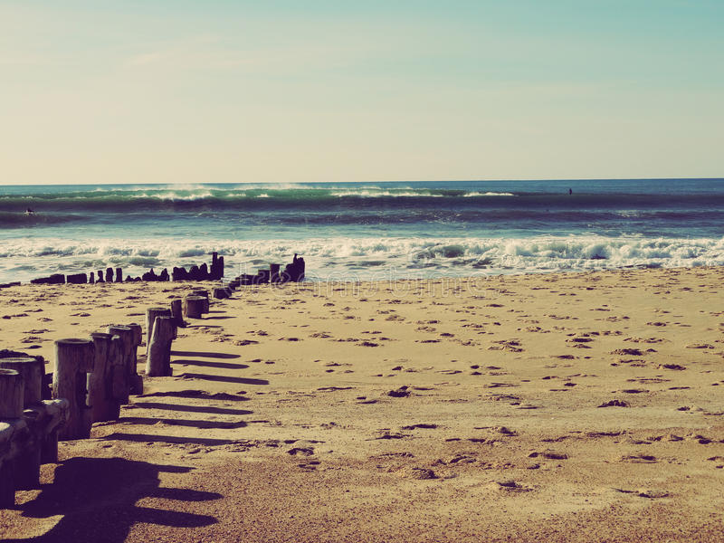 Hossegor plaża w Francja obrazy stock