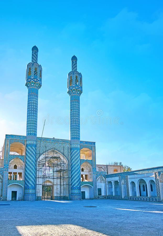 Hosseiniyeh dello scià Nematollah Vali Shrine, Mahan, Iran immagini stock libere da diritti