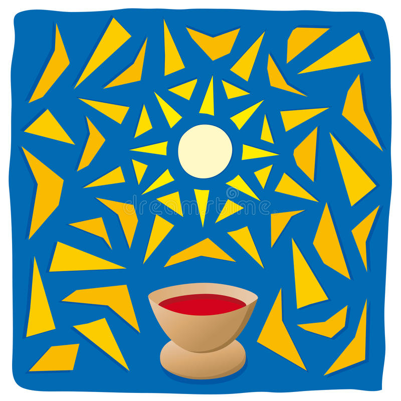 Host and chalice. Religious symbols royalty free illustration