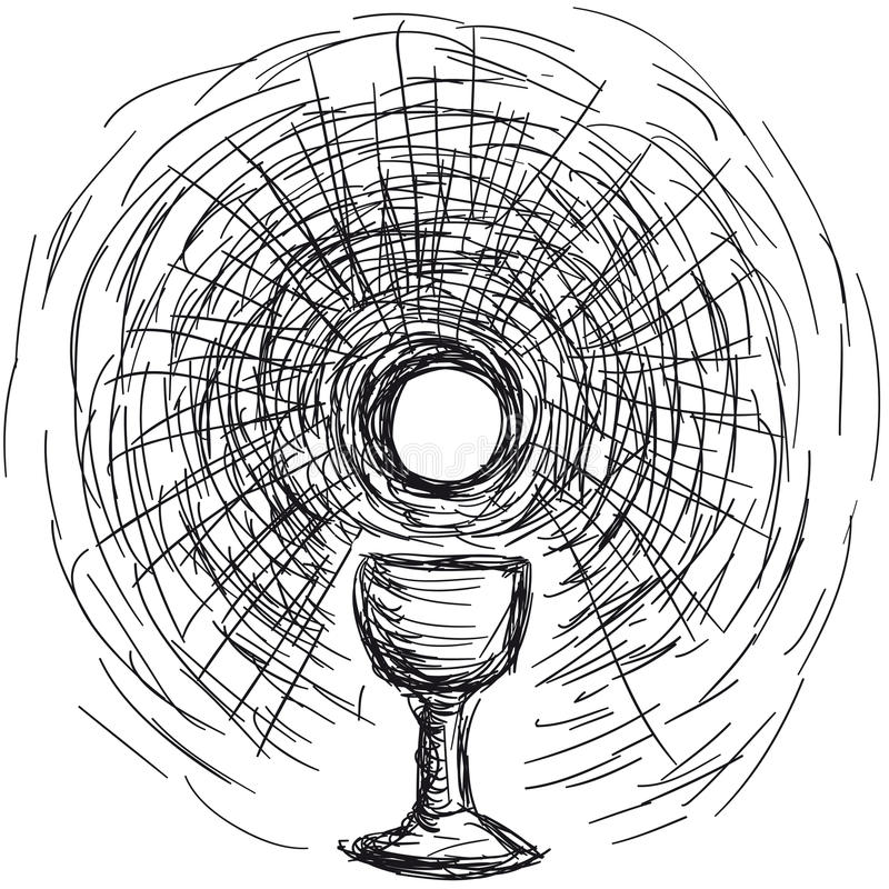 Host and chalice. Vector illustration of host and chalice stock illustration