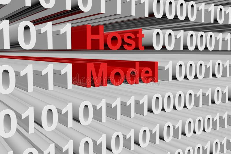 Host model. In the form of binary code, 3D illustration royalty free illustration