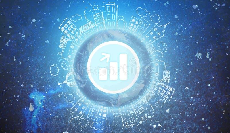 Host. Web server room internet data rack stock illustration
