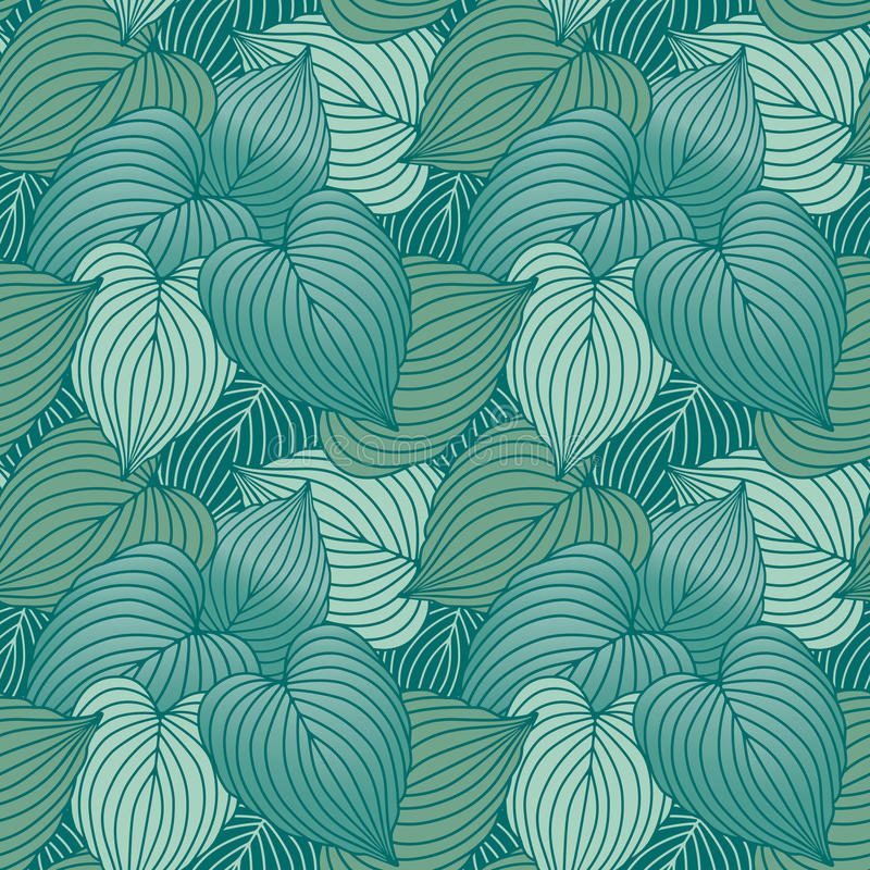 Download Hosta Leaf Pattern In Blue-Green Royalty Free Stock Photography - Image: 10008767