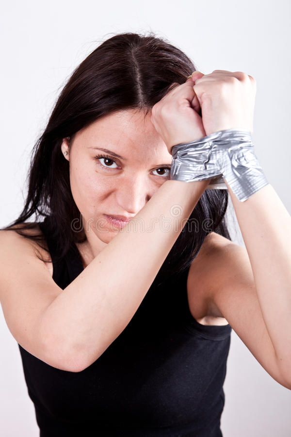 Download Hostage stock photo. Image of person, black, caucasian - 18926122