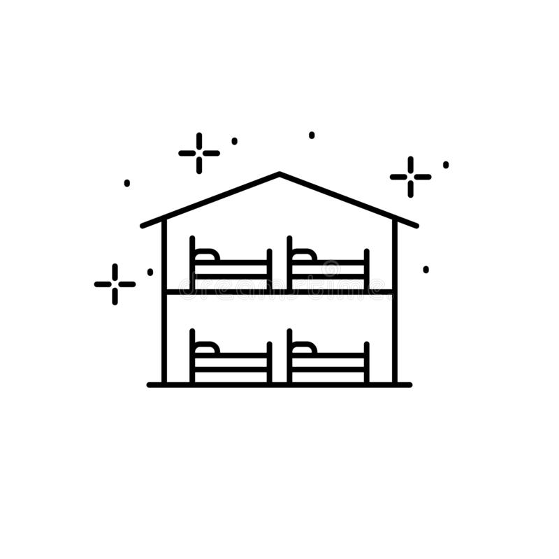 Hostel, bed icon. Element of gap icon. On white background vector illustration