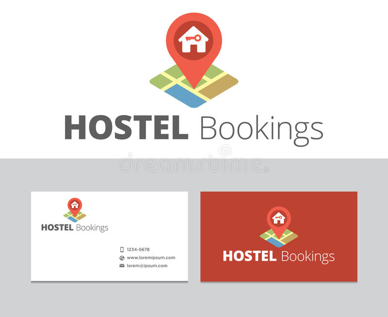 Hostel Bookings logo. In vector format for many type of media royalty free illustration