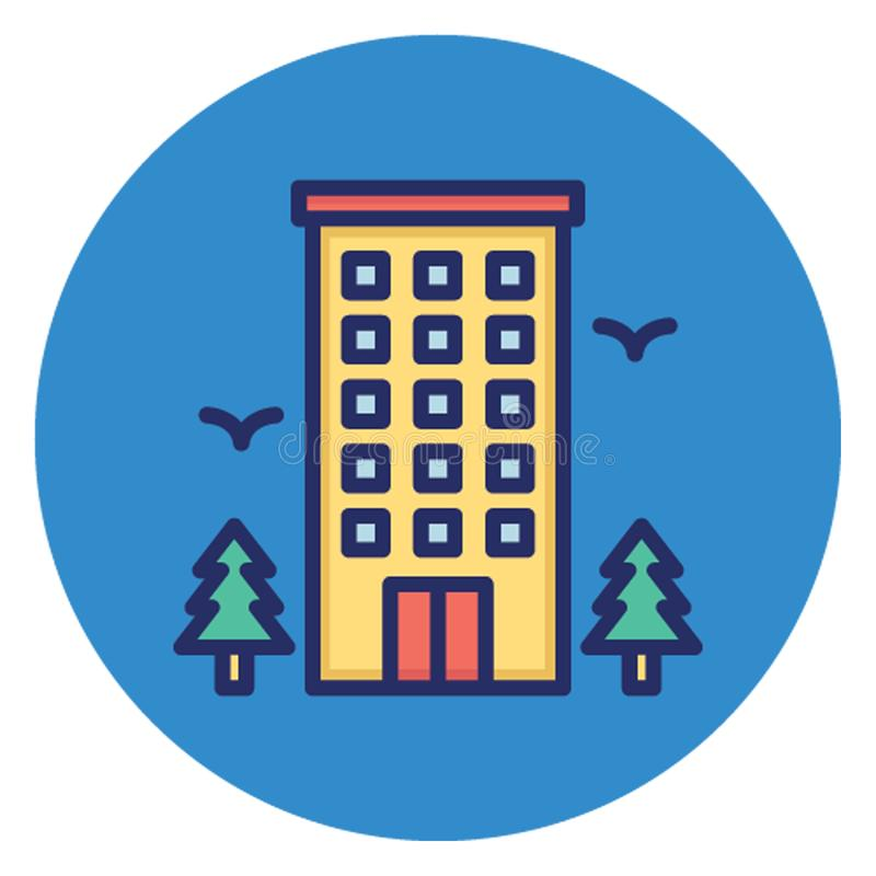 Hostel, hotel Vector Icon which can easily edit vector illustration