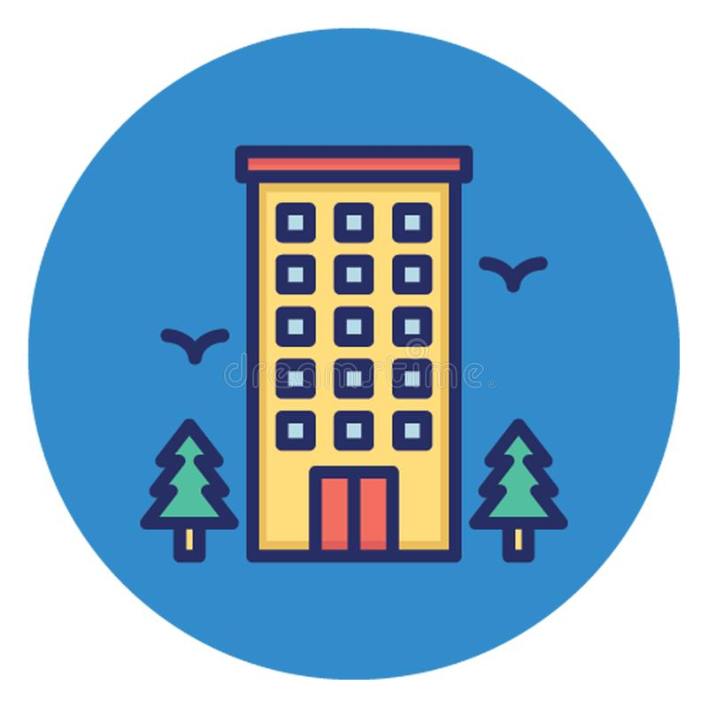 Hostel, hotel Vector Icon which can easily edit stock illustration