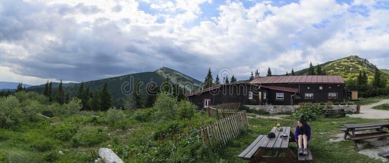 Hostel Pod Chlebom in National park Mala Fatra stock image