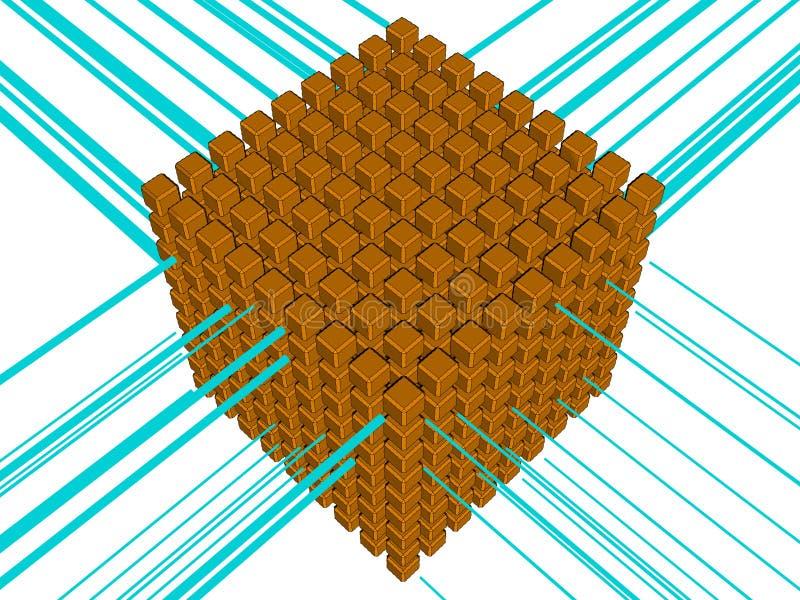 Download Hosting stock illustration. Image of cube, base, bank - 16546408