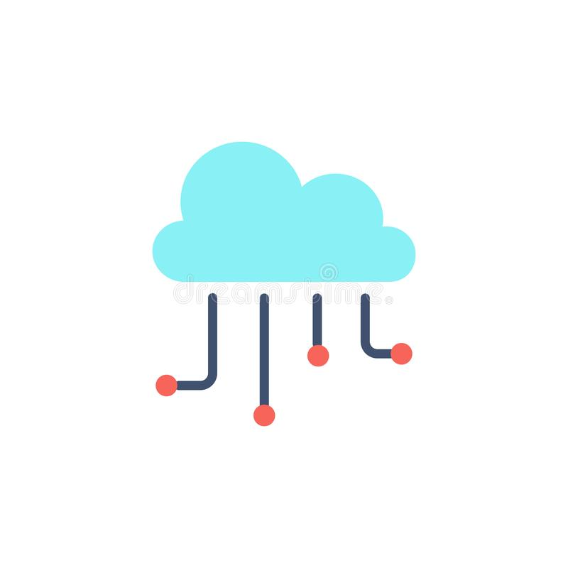 Hosting cloud icon. stock illustration