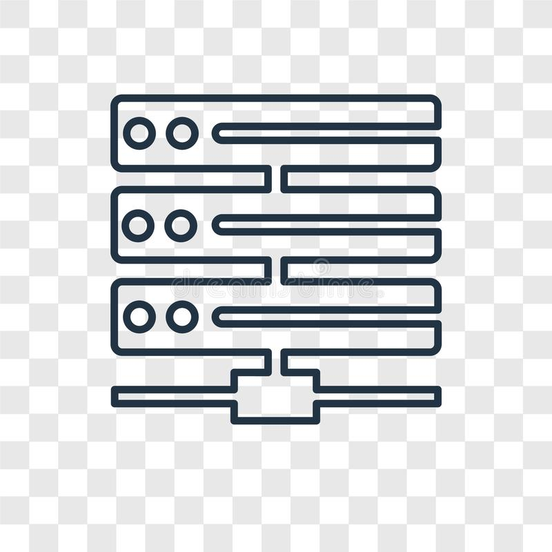 Hosting concept vector linear icon isolated on transparent background, Hosting concept transparency logo in outline style royalty free illustration