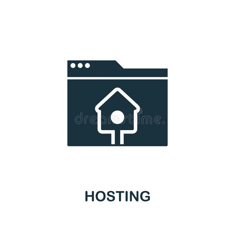 Hosting creative icon. Simple element illustration. Hosting concept symbol design from web development collection. Perfect for web. Hosting creative icon. Simple stock illustration