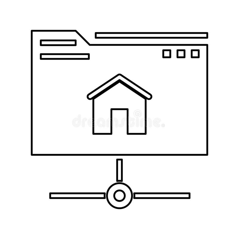 Hosting icon. Element of cyber security for mobile concept and web apps icon. Thin line icon for website design and development,. App development on white vector illustration