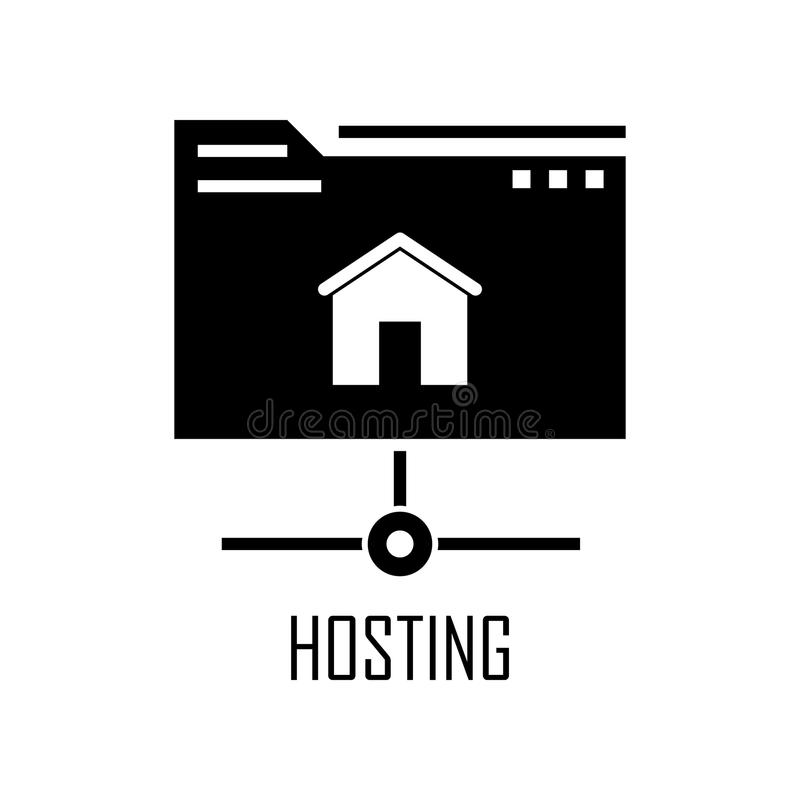 Hosting icon. Element of Web Development for mobile concept and web apps. Detailed hosting icon can be used for web and mobile. Pr. Emium icon on white stock illustration