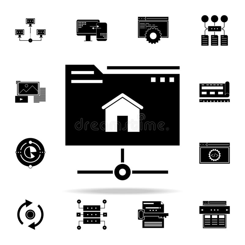 Hosting icon. Web Development icons universal set for web and mobile. On white background stock illustration