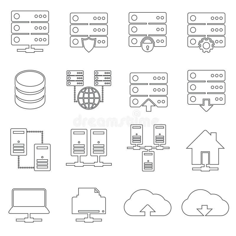 Hosting Network Icons royalty free illustration