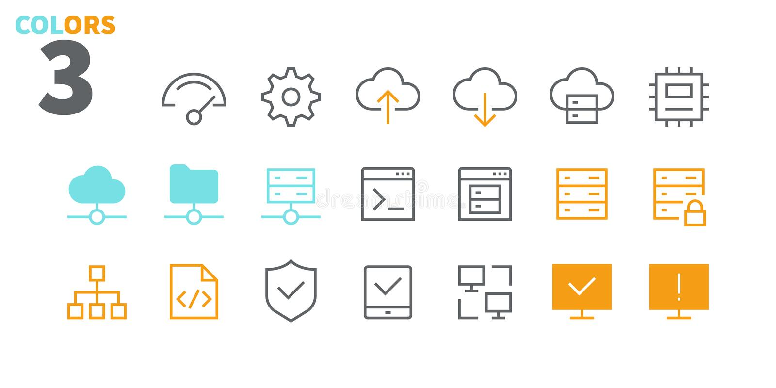 Hosting Pixel Perfect Well-crafted Vector Thin Line Icons 48x48 Ready for 24x24 Grid for Web Graphics and Apps with. Editable Stroke. Simple Minimal Pictogram royalty free illustration