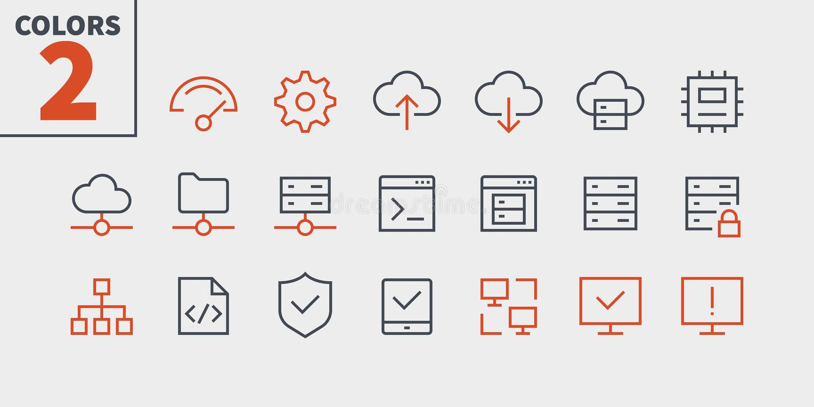 Hosting Pixel Perfect Well-crafted Vector Thin Line Icons 48x48 Ready for 24x24 Grid for Web Graphics and Apps with. Editable Stroke. Simple Minimal Pictogram vector illustration