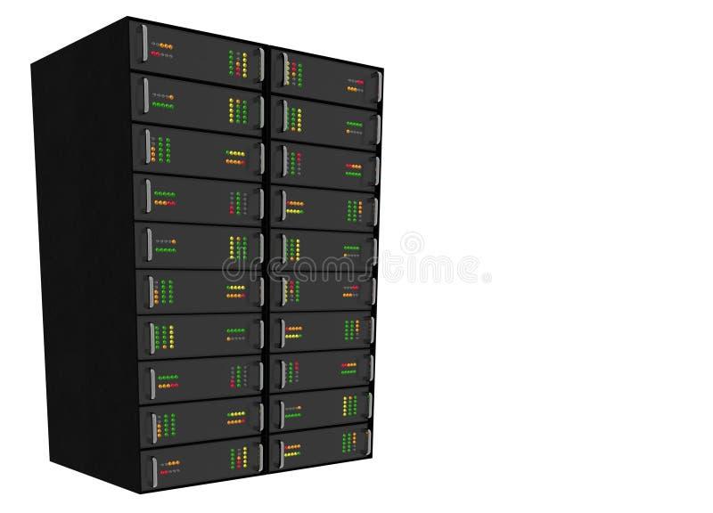 hosting rack server web white διανυσματική απεικόνιση