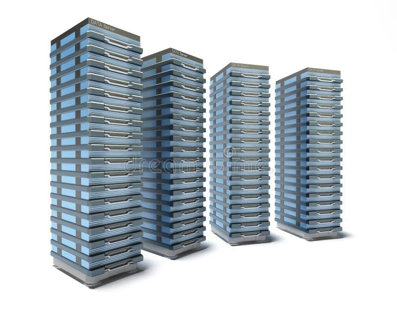 Download Hosting Server Farm stock illustration. Image of isolated - 13697084