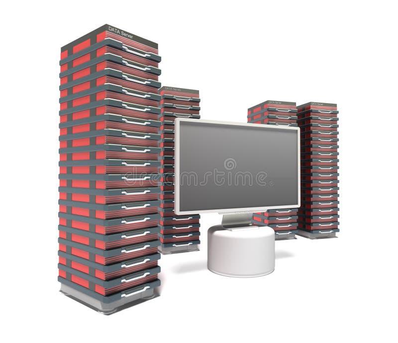 Download Hosting Server Farm stock illustration. Image of commerce - 26947168