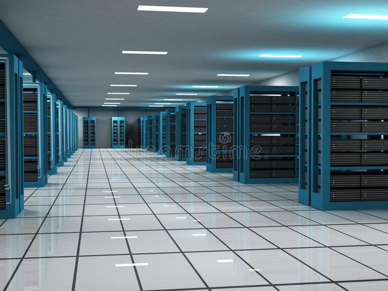 Download Hosting and Server Room stock image. Image of wide, technology - 13293613