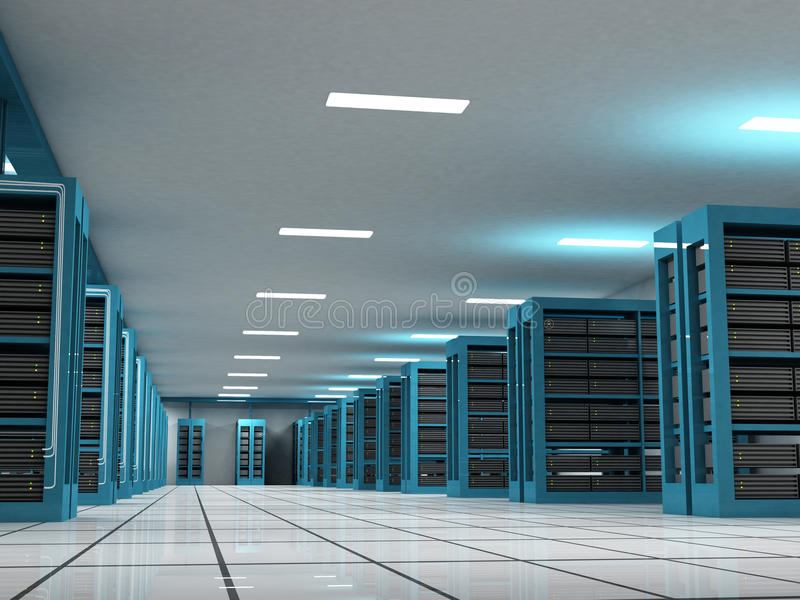 Hosting and Server Room. Unique hosting and server room