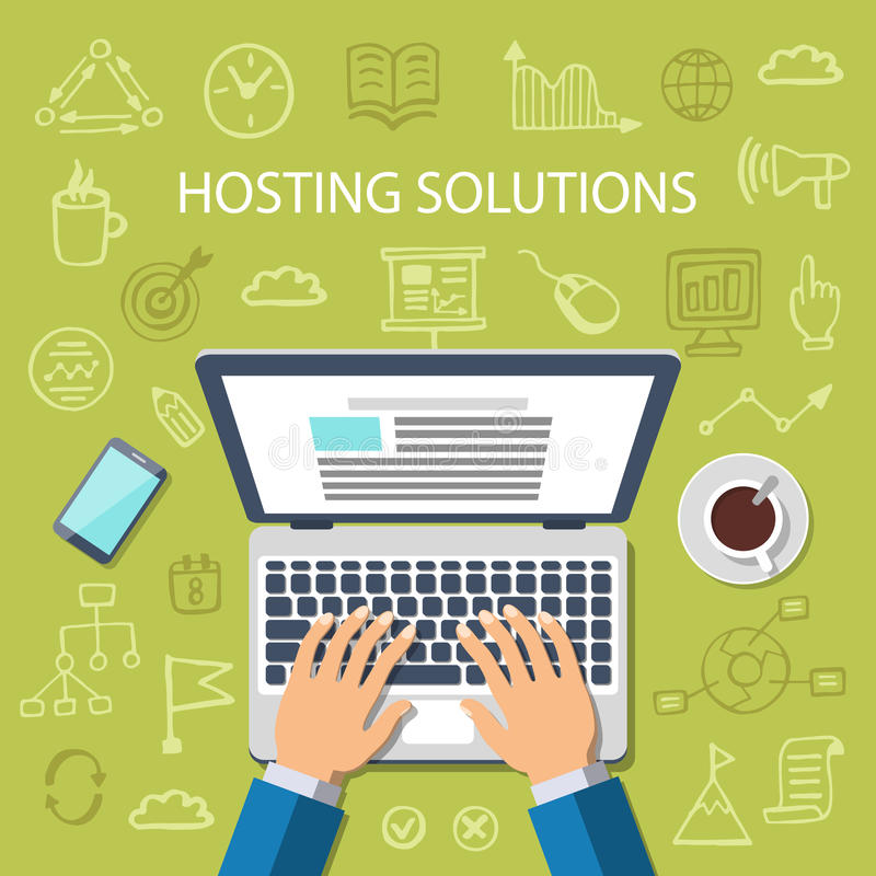 Hosting Solutions Concept royalty free stock image