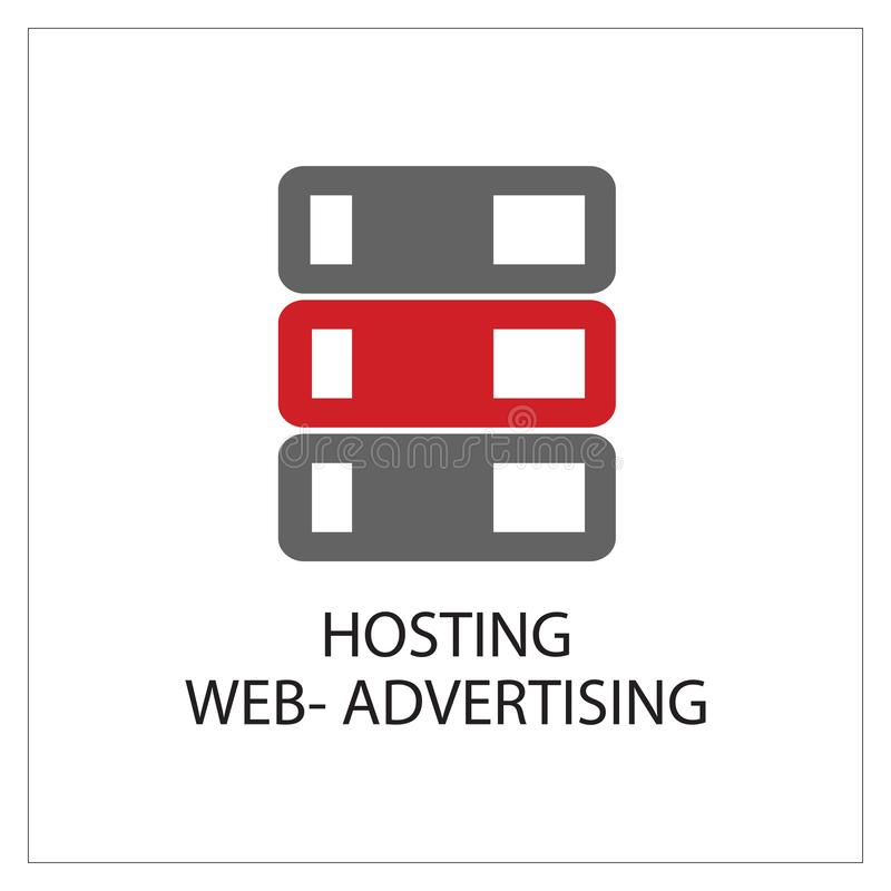 Hosting Web-Advertising Simpel Logo Icon Vector Ilustration. 