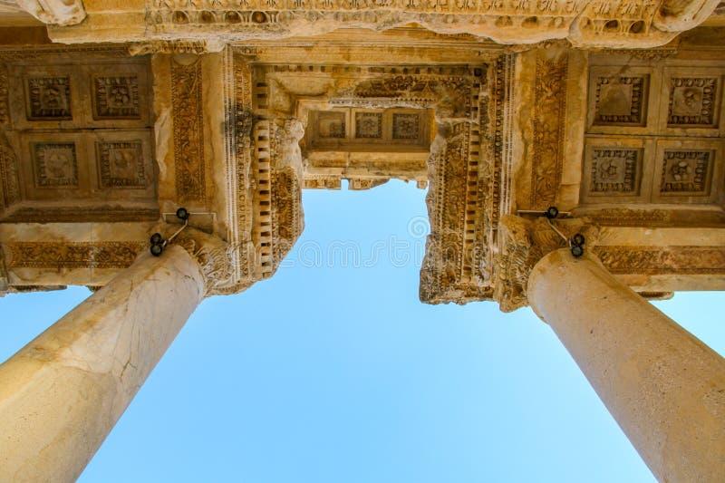 Hostorical kamienie w Ephesus, Izmir zdjęcie royalty free
