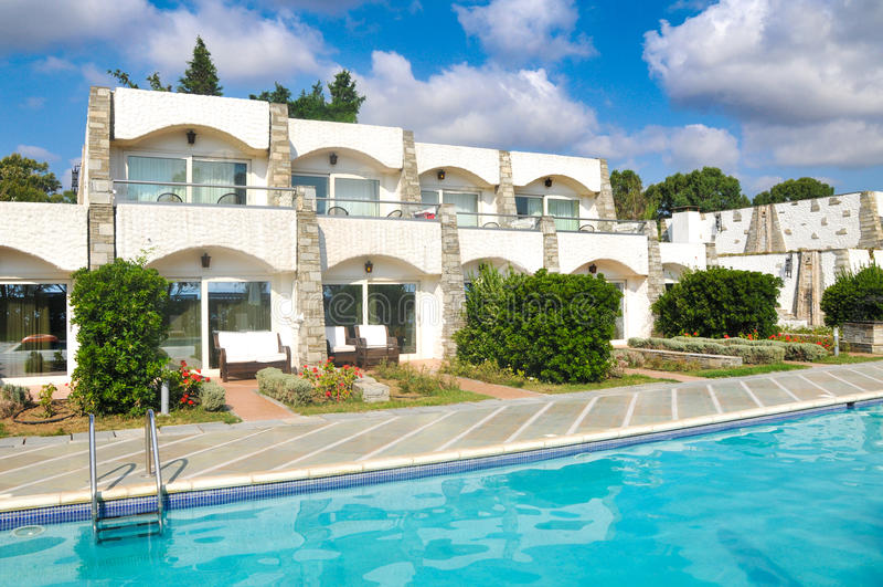 Hotéis de luxo em Greece fotos de stock royalty free