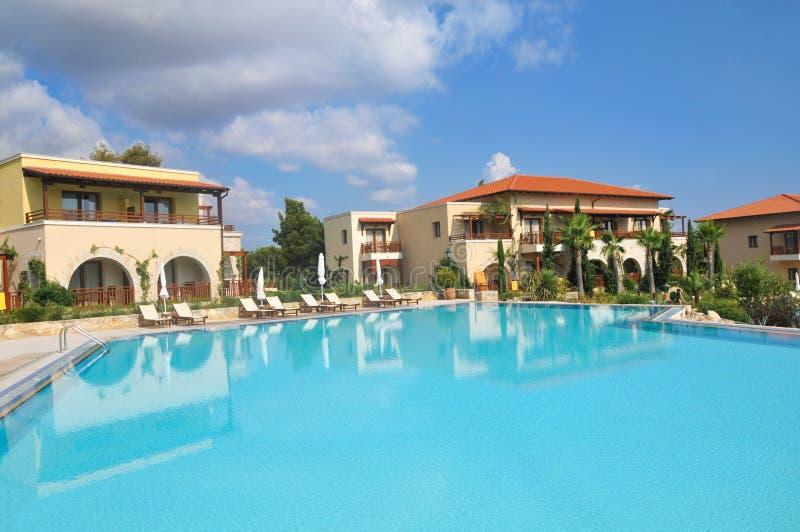 Hotéis de luxo em Greece imagens de stock