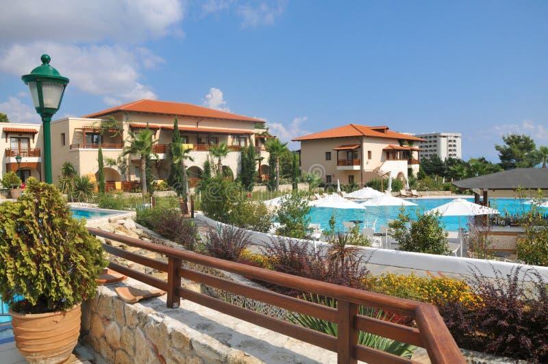 Hotéis de luxo em Greece foto de stock