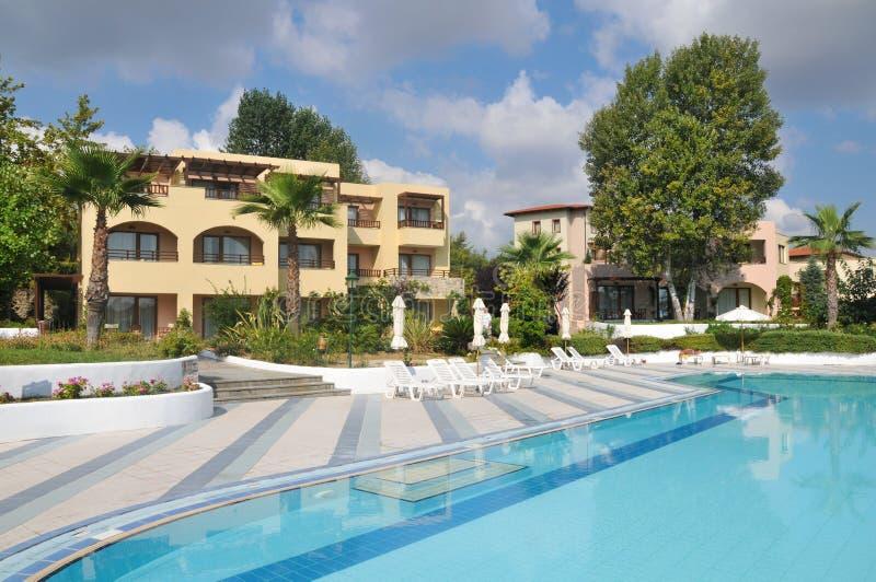 Hotéis de luxo em Greece fotografia de stock royalty free