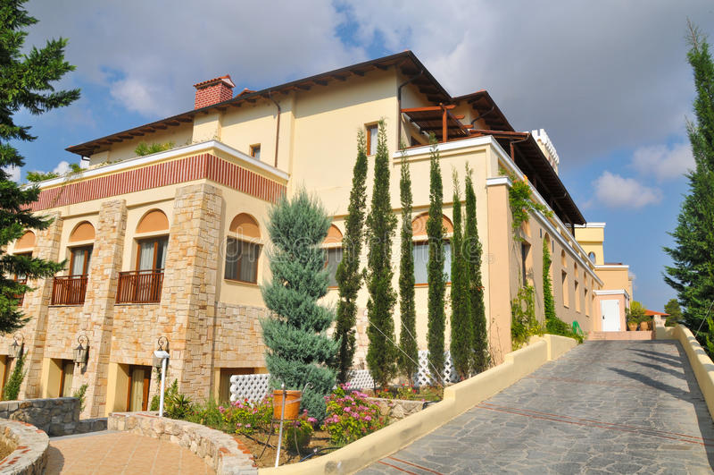 Hotéis de luxo em Greece imagens de stock royalty free