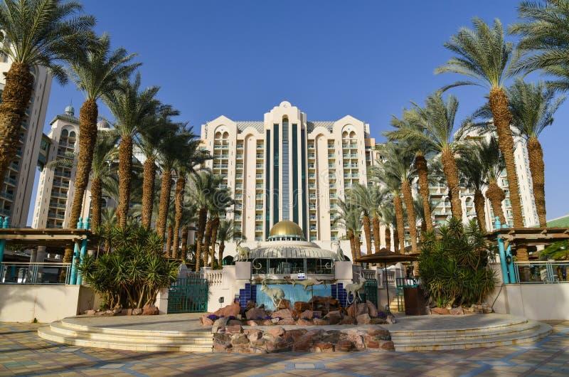 Hotéis de luxo Israel do recurso de Eilat fotos de stock royalty free
