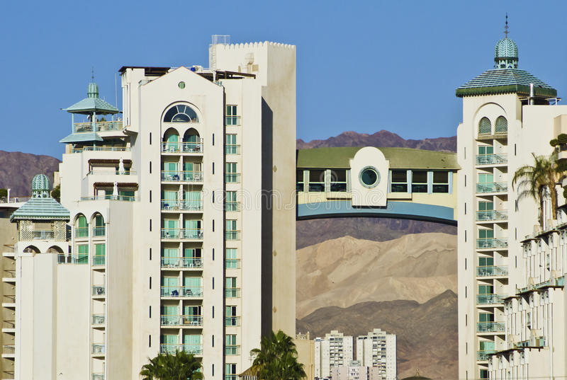 Hotéis de recurso de Eilat imagens de stock royalty free