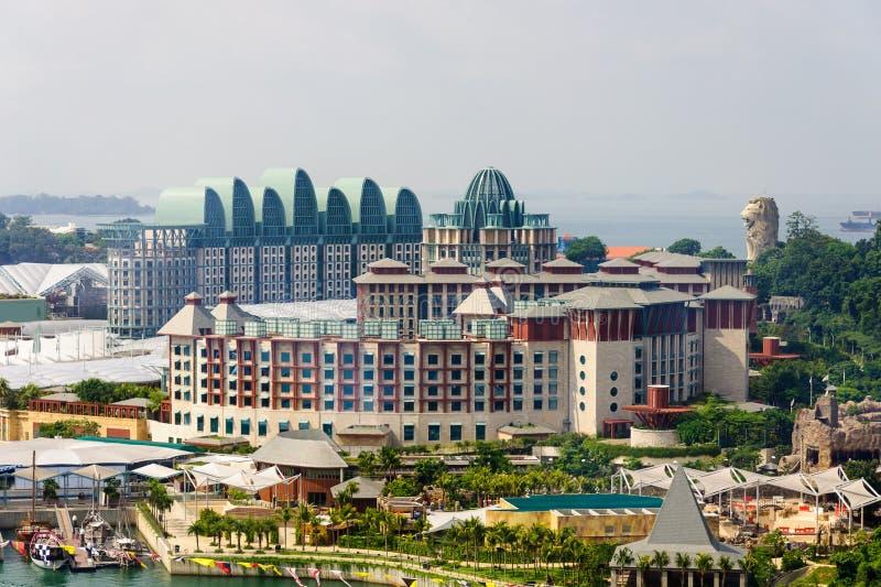 Hotéis de Sentosa fotos de stock royalty free