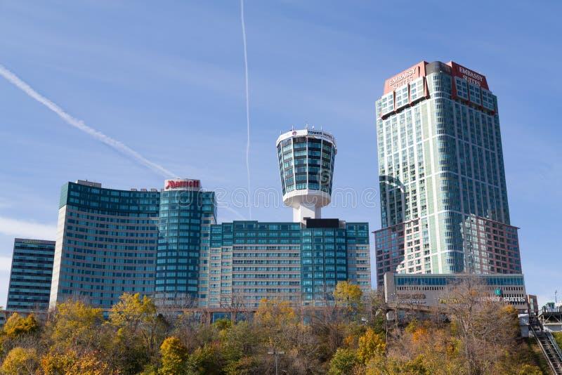 Hotéis em Niagara Falls imagem de stock