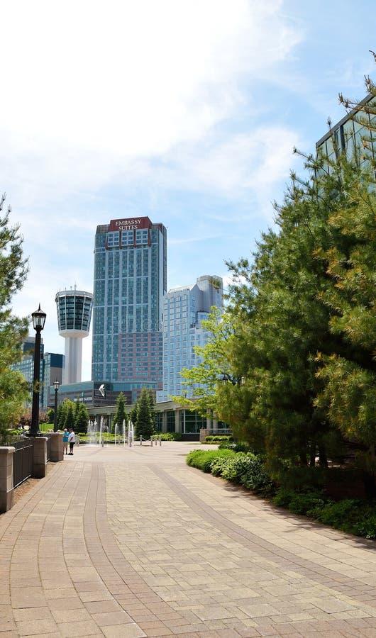 Hotéis em Niagara Falls foto de stock royalty free