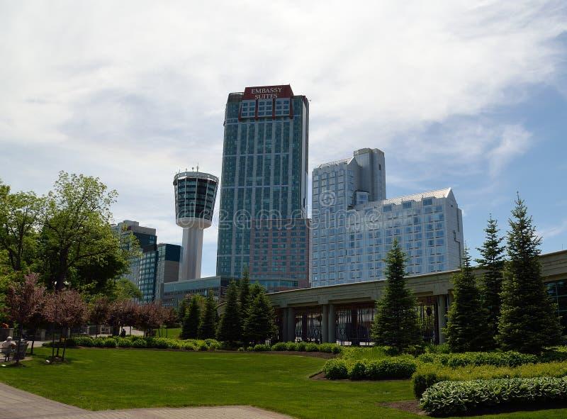 Hotéis em Niagara Falls imagens de stock royalty free