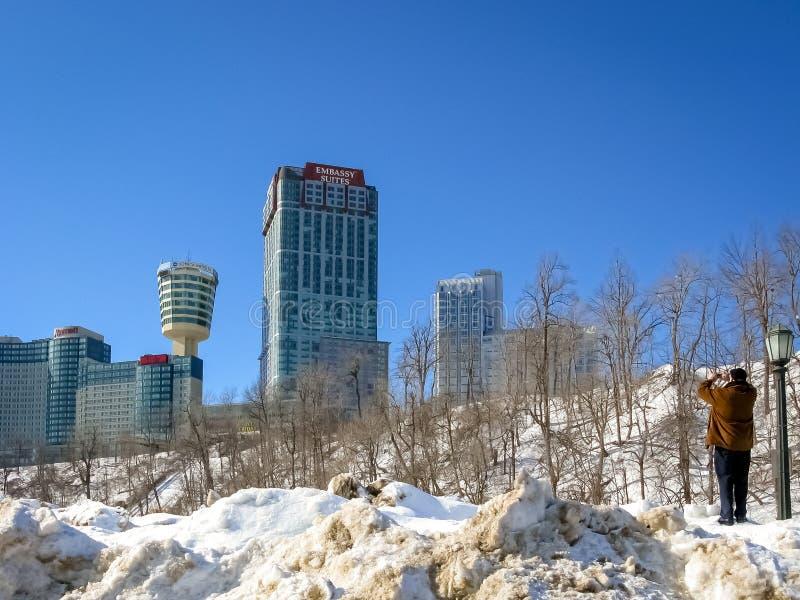 Hotéis em Niagara, Ontário, Canadá foto de stock