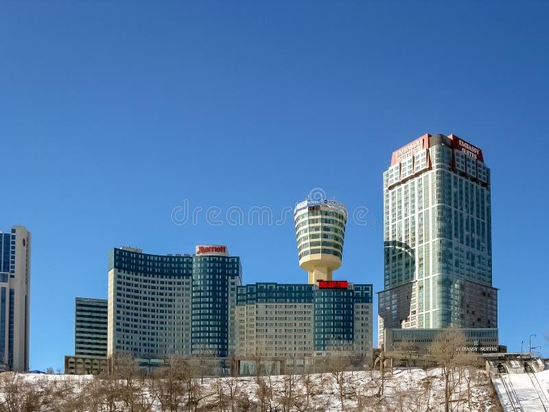 Hotéis em Niagara, Ontário, Canadá imagens de stock