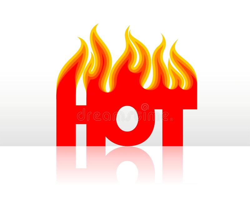 Download Hot stock vector. Image of reflexion, background, flame - 11300531