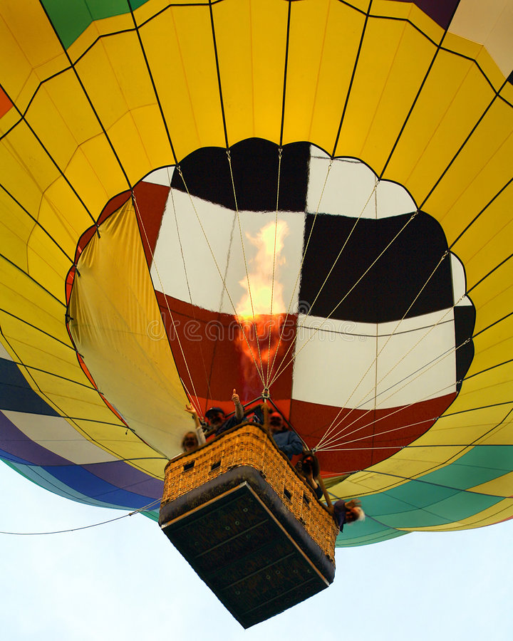 Hot air ballon. Hot air balloon taken over interstate 84 in new york royalty free stock image