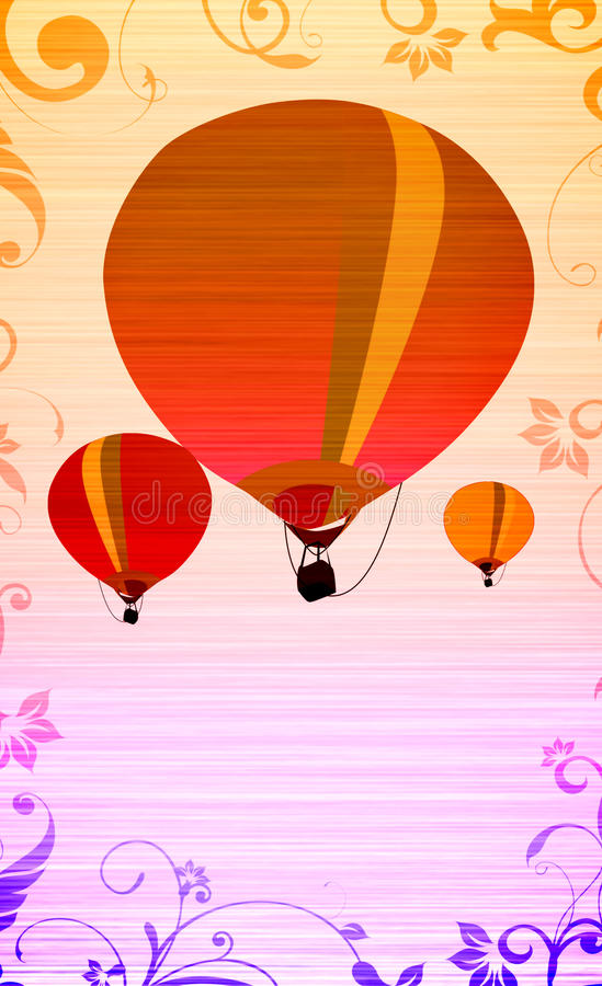 Download Hot air ballon stock illustration. Image of float, free - 25583871
